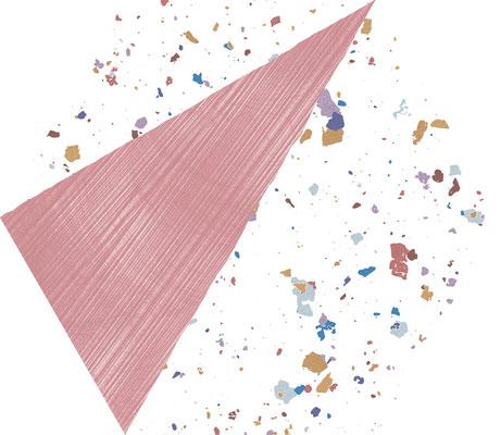Aparici Stracciatella pink hexagon