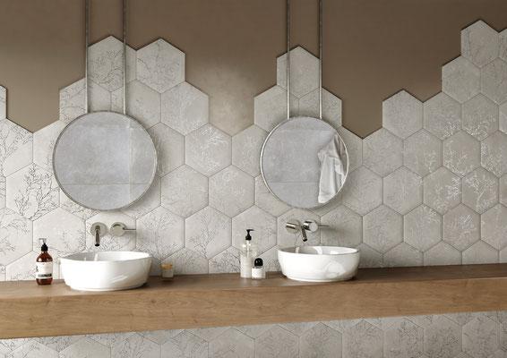 Apavisa Ozone ivory decor hexagon