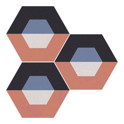 Apavisa Cube red hexagon