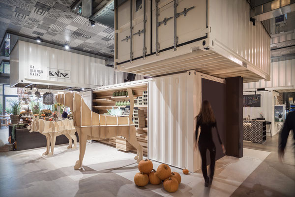 Projekt: Markthalle, 5020 Salzburg, Design: Smartvoll Architekten, Fliesen: Apavisa Hydraulic, Aparici Moving