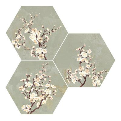 Apavisa Mood green decor hexagon