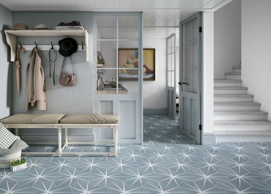 Apavisa Starline blue hexagon