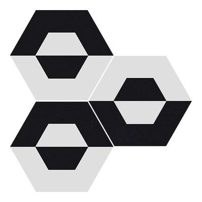 Apavisa Cube white hexagon