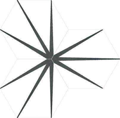 Apavisa Starline white hexagon