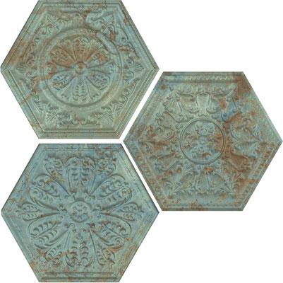 Apavisa Zinc green hexagon decor