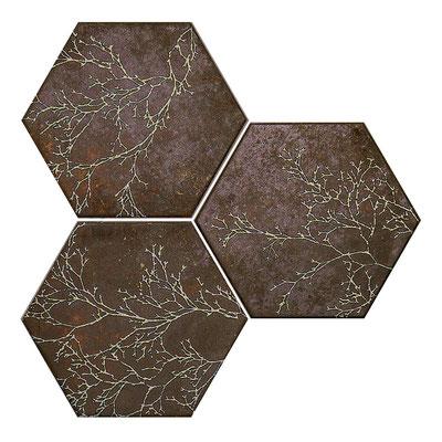 Apavisa Ozone brown decor hexagon