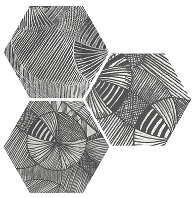 Apavisa North black hexagon decor