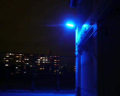学校内LED防犯灯(夜)