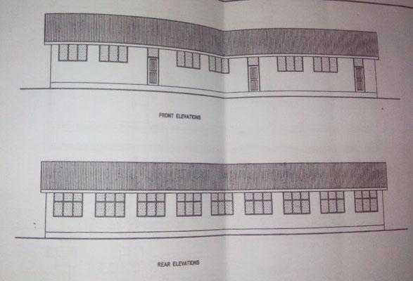Plan des ersten Gebäudes