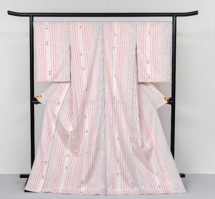 作品名 紬織着物「熊野」織物 足立 真実