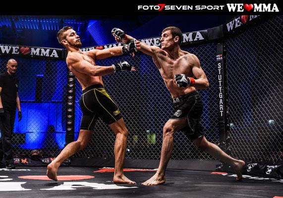 Mansur Gazaev (MMA Club Dresden)  vs. Arthur Glöckler (RFS Team Carlson Gracie Deutschalnd)