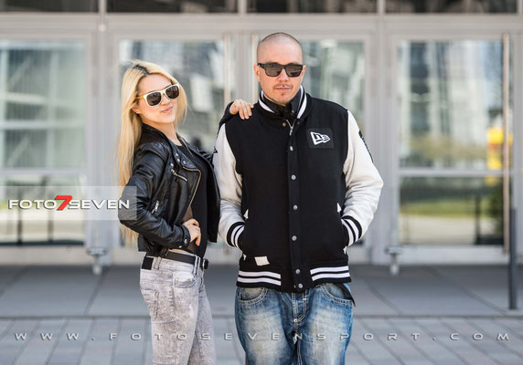 Pressetermin - UFC - Berlin - 23.04.2015 - O2 Arena | DJ Tomekk und Jolie Loi