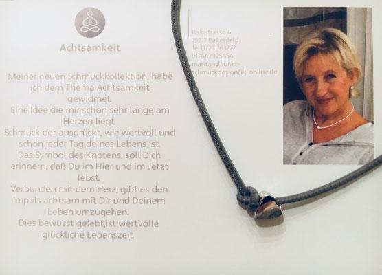 Silberherz 925, Größe 1cm x 1cm mit Lederband