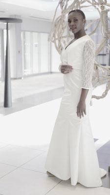 Création robe de mariée sur mesure Toulouse Laurie Elma- Sirène