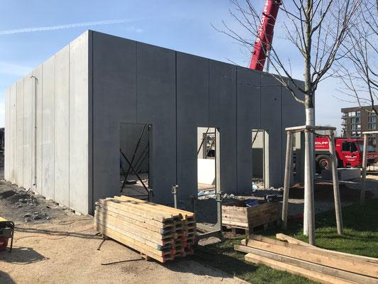 Die Demontage des Betonpavillons in Heilbronn erfolgte Ende März 2020.