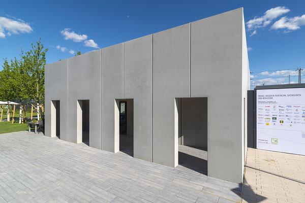 Auf der Bundesgartenschau 2019 in Heilbronn wurde der Pavillon als Seminarraum genutzt. Foto: artismedia gmbH