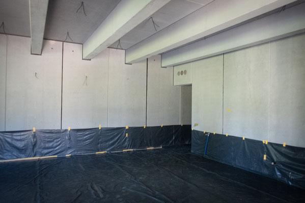 Der Innenausbau schreitet ebenfalls voran. Foto: Campus Galli