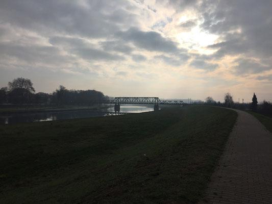 Eisenbahnbrücke über die Oder