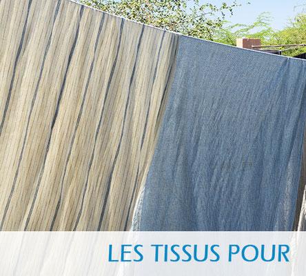 Tissus pour la maison, en coton, en soie, tissus imprimés à la main, sérigraphiés, tissés, etc.