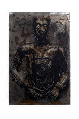 Foto auf Rost, C3PO, Star Wars, Foto auf Metall, Bild auf Metall, Fotokunst,E118/1