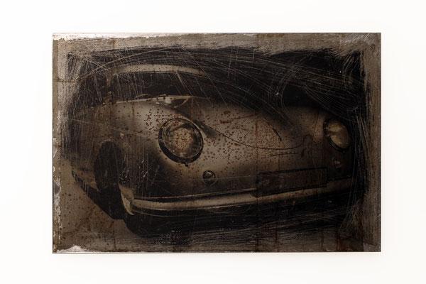 Foto auf Rost, Car, Oldtimer, Porsche, Foto auf Metall, E126/1