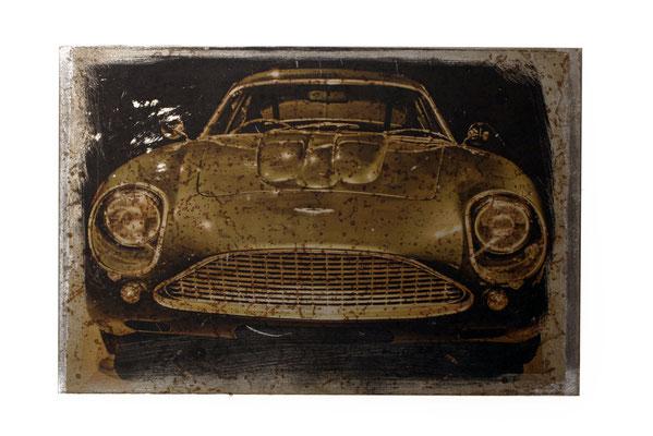 Foto auf Rost, Car, Oldtimer, Porsche, Foto auf Metall, Bild auf Metall, E130/1