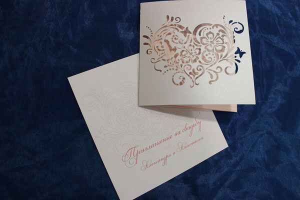 Резное Свадебное приглашение