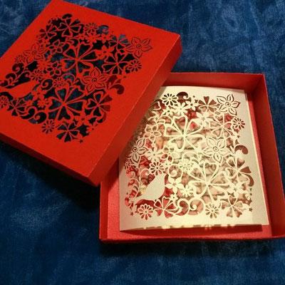 Открытка с днем рождения в коробочке