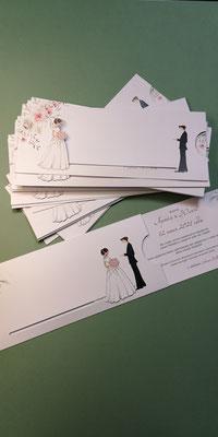 Свадебное приглашение с женихом и невестой