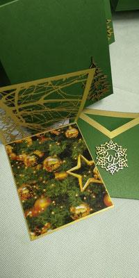 ажурная новогодняя открытка
