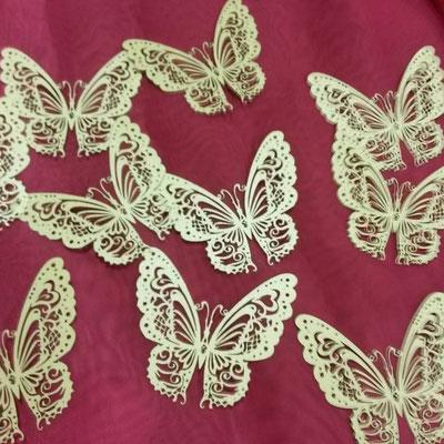 ажурные бабочки из бумаги