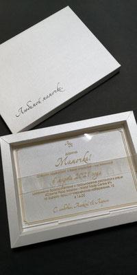 Приглашение на свадьбу из акрила в коробке
