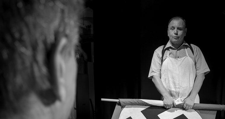 """auf der Bühne als """"Der Bockerer"""" - (Foto Kellerbühne Attnang)"""