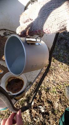 りんご屋たけむら 畑でコーヒー