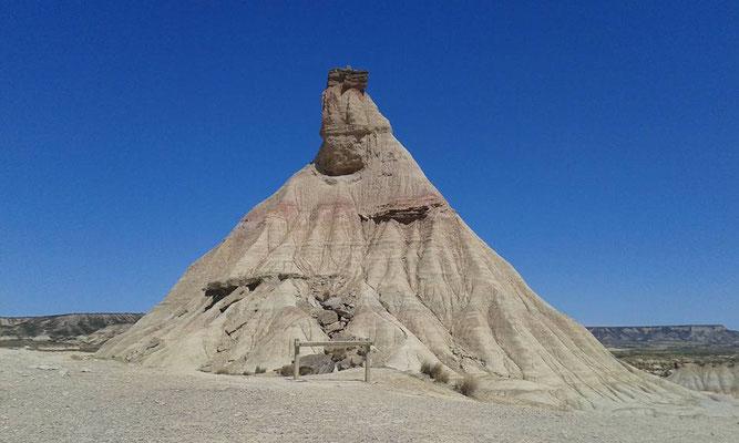 Dans le désert de las bardenas reales..