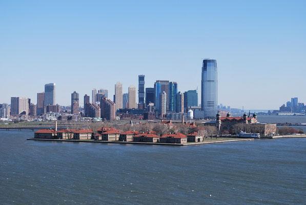 Manhattan depuis la mer