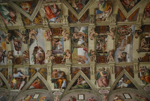 La plafond de la chapelle Sixtine