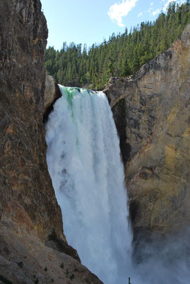 les chutes de la yellowstone river