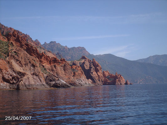 Escapade en bateau vers la réserve de Scandola