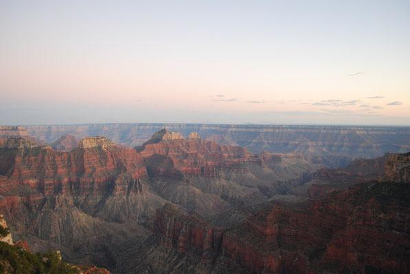 le grand canyon, rive nord, la plus sauvage, mais aussi la plus fraîche...
