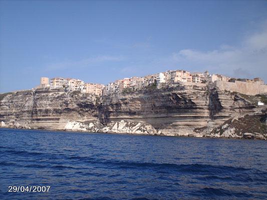 Bonifacio  depuis le bateau