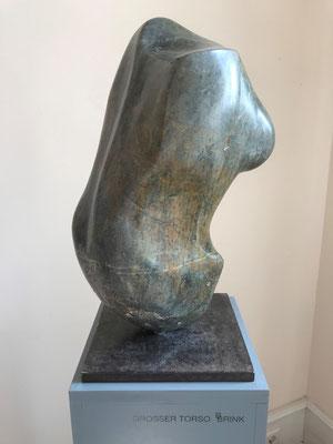 Großer Torso (2012), Speckstein bearbeitet, 26 cm x 52 cm