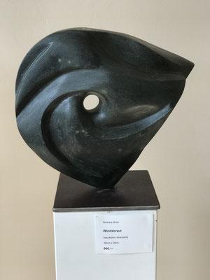 Windsbraut (2017), Speckstein bearbeitet, 38 cm x 34 cm