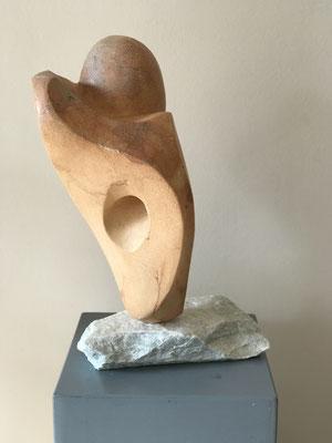 NN (./.) , Speckstein bearbeitet, 34 cm x 47 cm