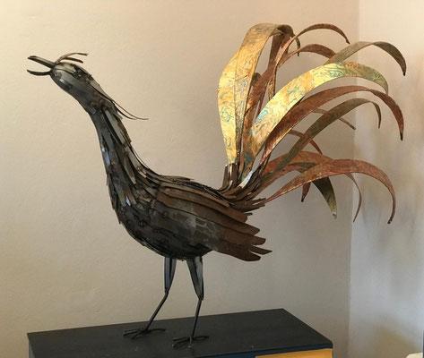 Paradiesvogel (./.), Stahl geschweißt und farbig veredelt, ca. 100 x 75 cm