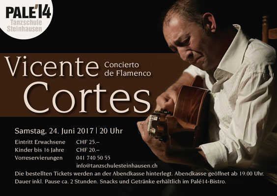 Palé14, Tanzschule Steinhausen Zug, Vicente Cortes 2017