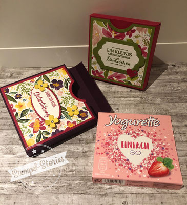 Verpackung, Stempel-Stories, Schokolade