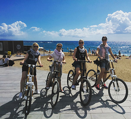Bamboo BIke Tours Barcelona @ Barceloneta Beach