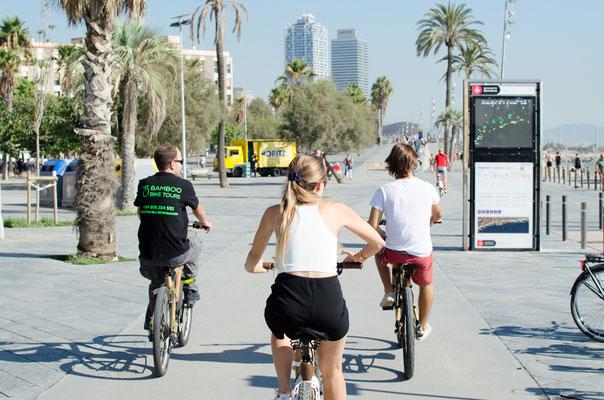 Bamboo BIke Tours Barcelona @ La Barceloneta