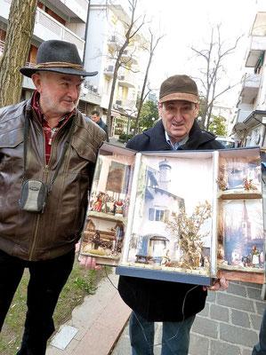 Obmann Heinz Eichler. Antonio Boemo, Obmann der Krippenfreunde Grado